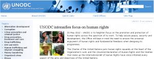 UNODC human rights