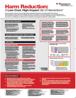 Poster developed for HLM 2011 on harm reduction cost-effectiveness