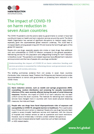 Briefing: The impact of COVID-19 on harm reduction in seven Asian countries