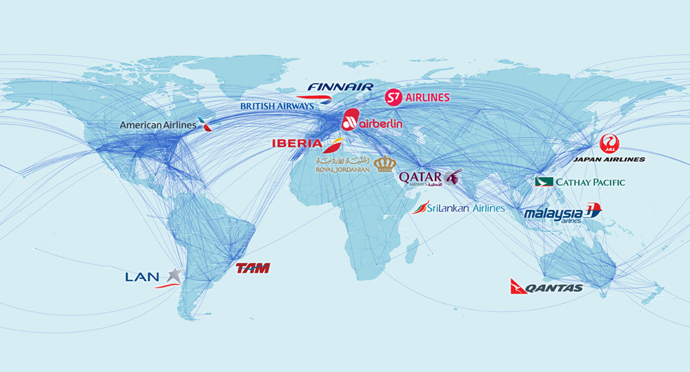 oneworld network map