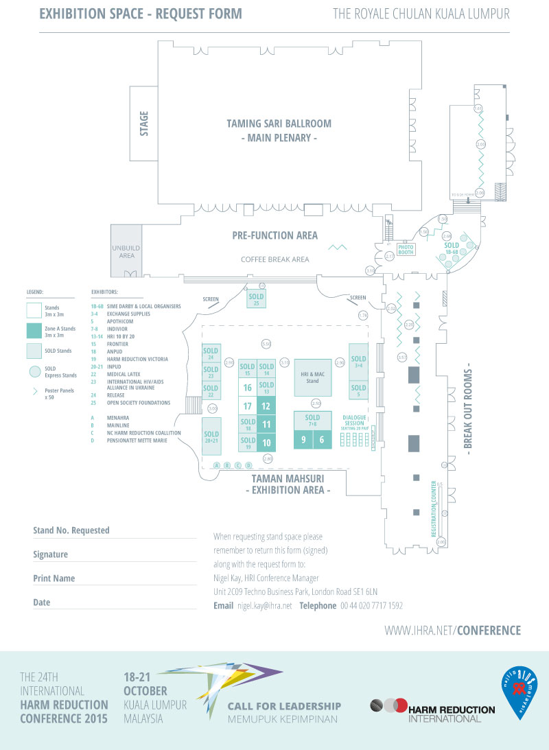 HR2015 Exhibitor - Floorplan - updated 11 September 2015