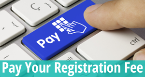 Pay your registration fee